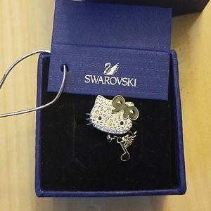 Hello Kitty music note Swarovski crystal ring